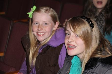 The girls enjoying the show.