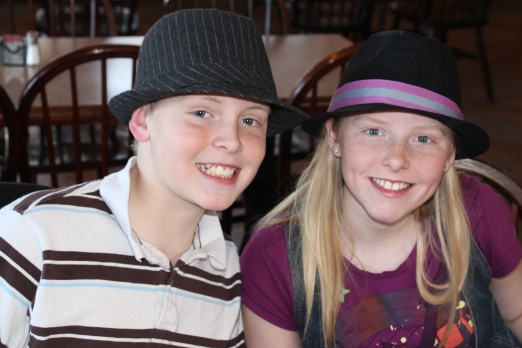 Molly and Rusty..the fedora twins.