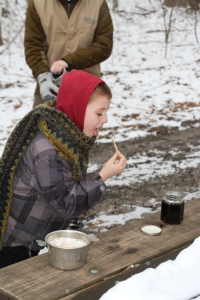 Tyler trying REAL maple syrup.