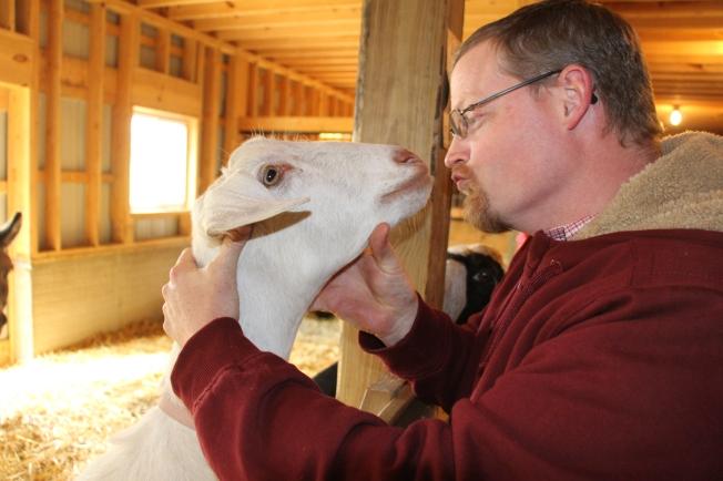 Toby making friends :)