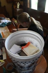 Gracie's 5 gallon bucket.