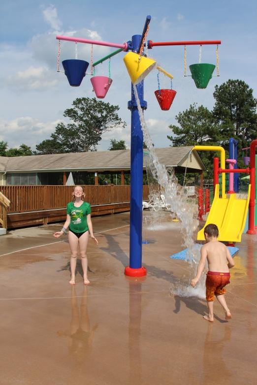 The water playground..
