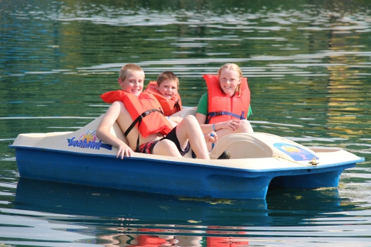 Paddleboat fun!