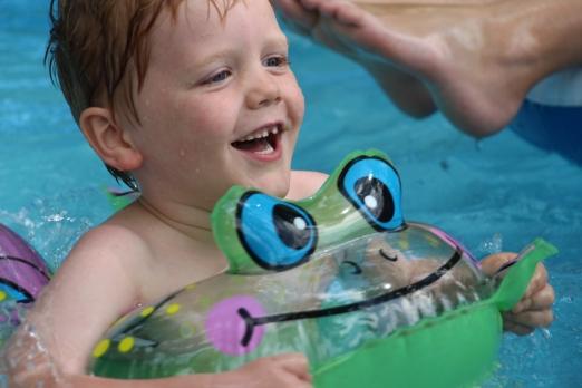 Nate enjoying the pool!