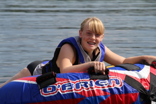 The biggest hit of the week was tubing. First up..Gracie.