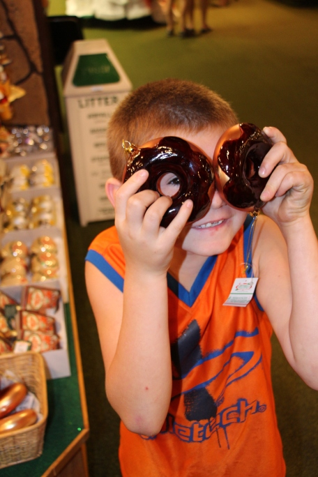 Tyler liked the donut ornaments!