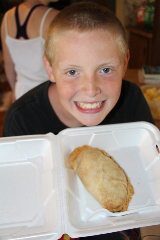 After seeing signs all week long for homemade pasty we decidedto stop and buy a few to sample. Famous in the UP of Michigan, they resemble a pot pie with ground meat veggies and rice inside.
