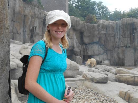 Molly and the polar bear.