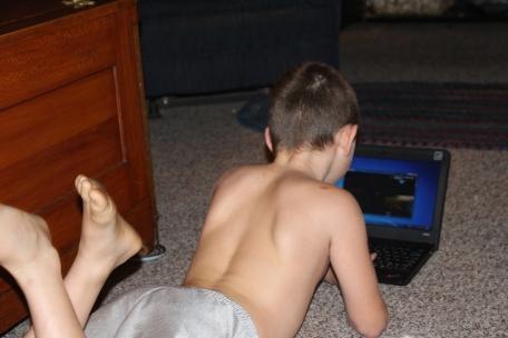 Tyler enjoying his new game :)