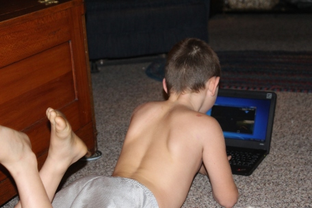 Tyler enjoying his new game :)
