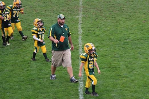 Tyler's final walk off the field.