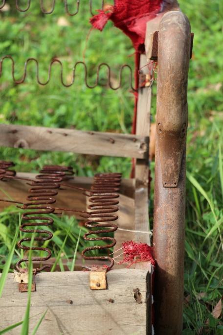An old, broken chair.