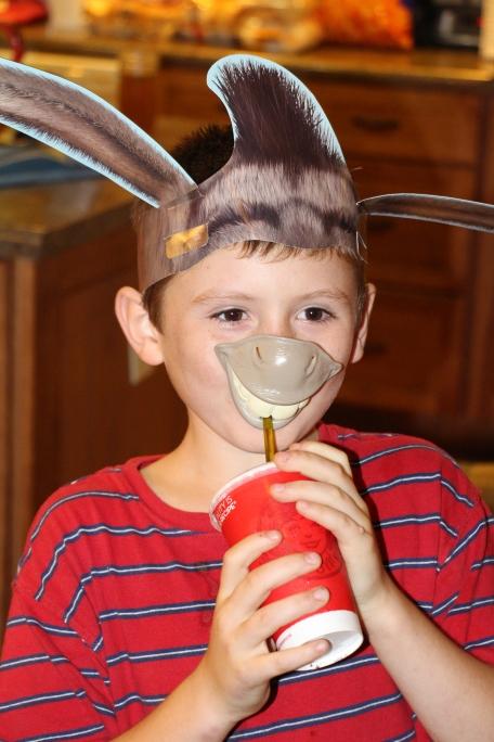 Tyler as Donkey.