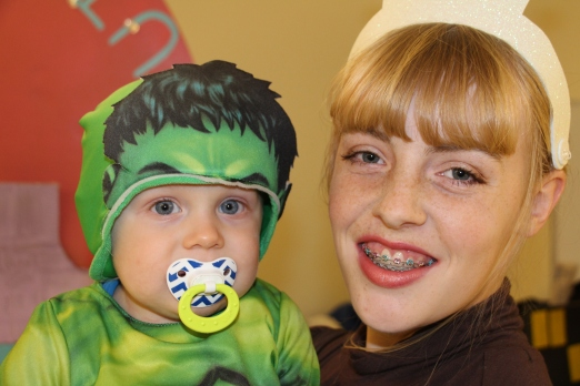 Gracie and the Hulk!