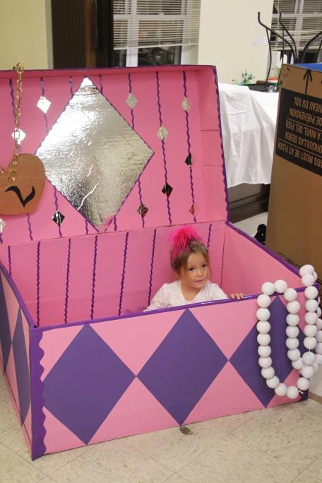 A ballerina in a jewelry box.