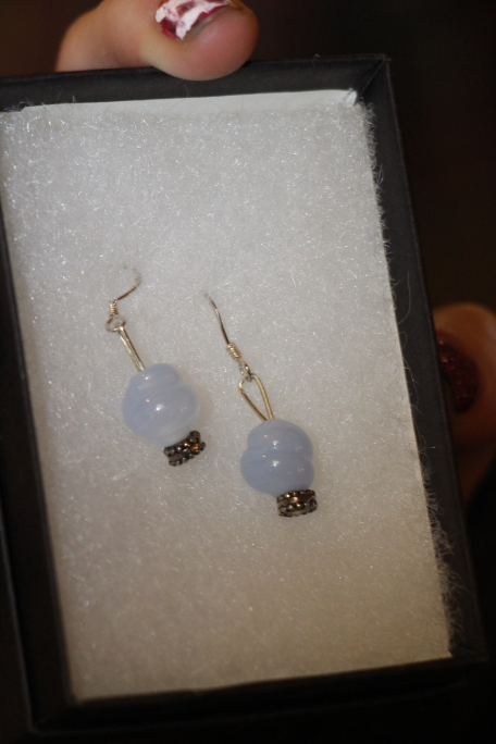 The earrings Gracie chose.