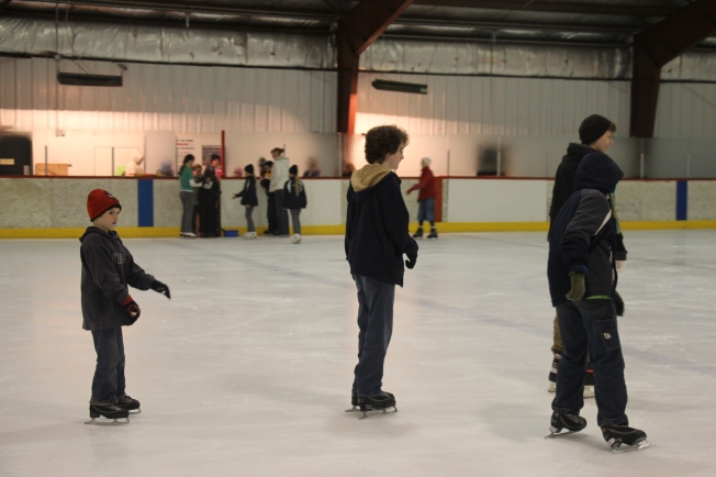 Tyler skating with the boys.