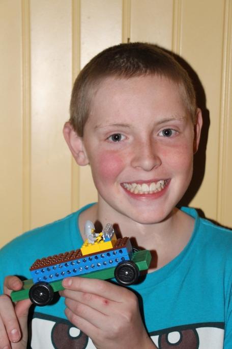 Rusty's lego car.