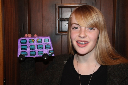 """Gracie's """"Harry Potter"""" Bus."""