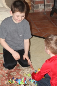 Tyler and Nate playing together.