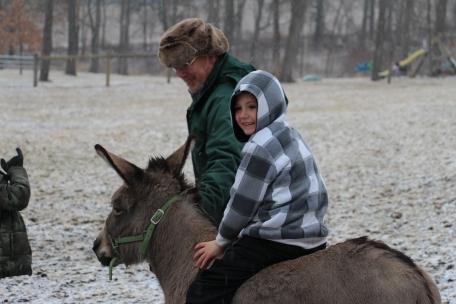 Tyler riding George