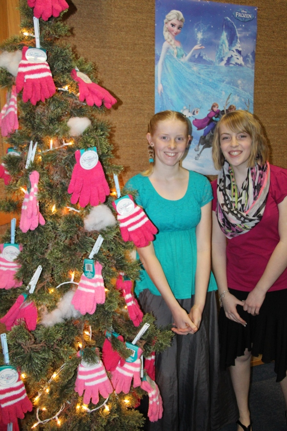 "The take home gift for all the girls was ""think pink"" gloves for Personal Progress."