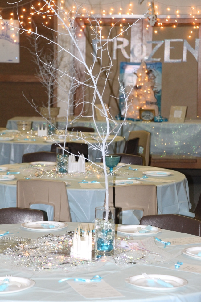 "Our décor for the evening was ""winter wonderland."""