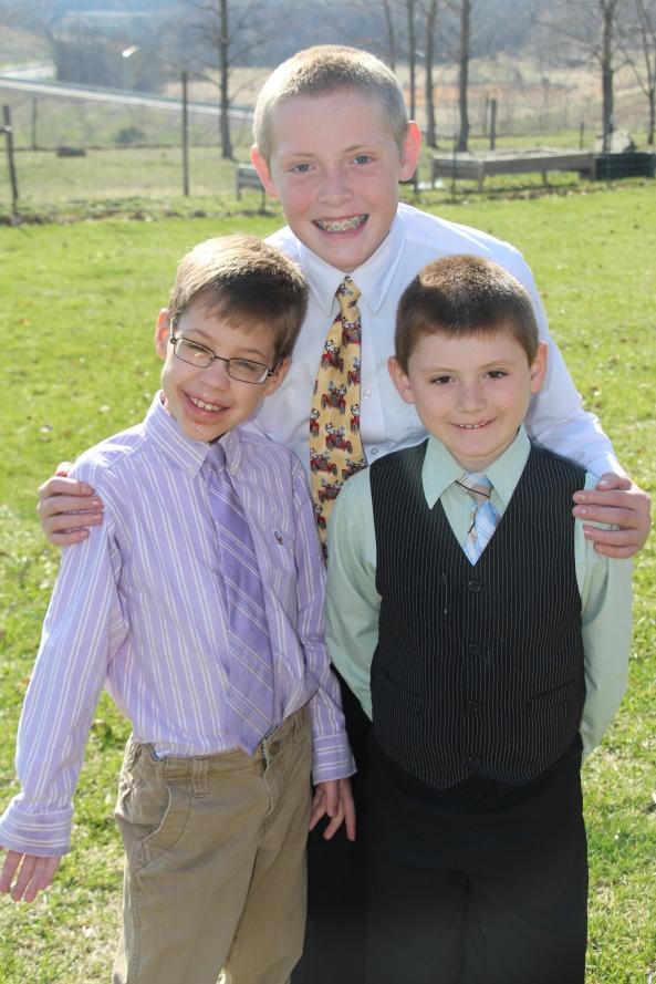 My boys...
