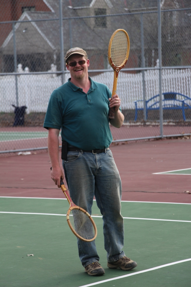Why use one racket when you can use two?