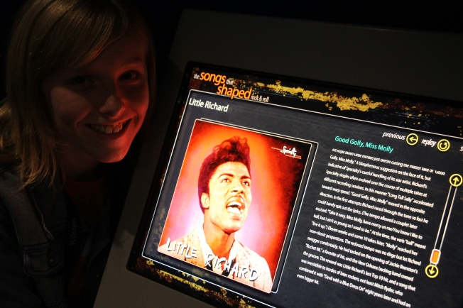 "Molly's favorite song on the jukebox...""Good Golly Miss Molly."" :)"