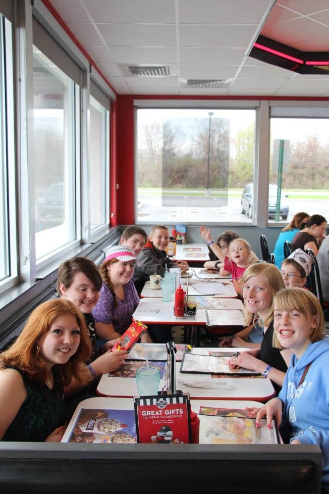 Breakfast at Steak n' Shake.