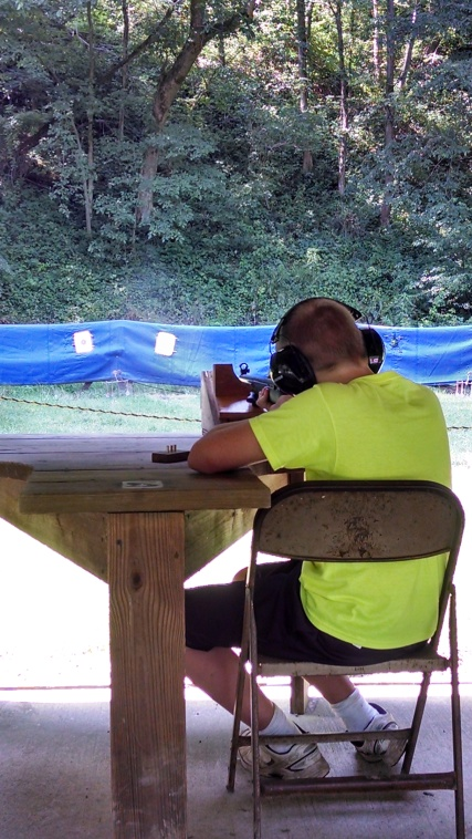 Fun at the gun range.