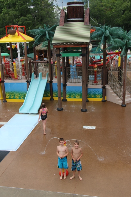The water play area.