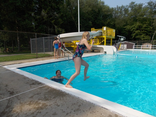 The week started out rainy but once the clouds parted it was time for some water fun.