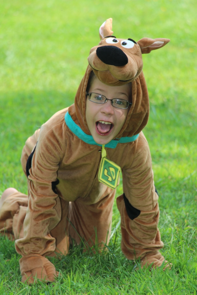 Ozzie as Scooby Doo.