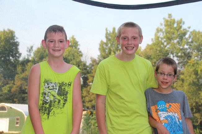 Fun on the trampoline!