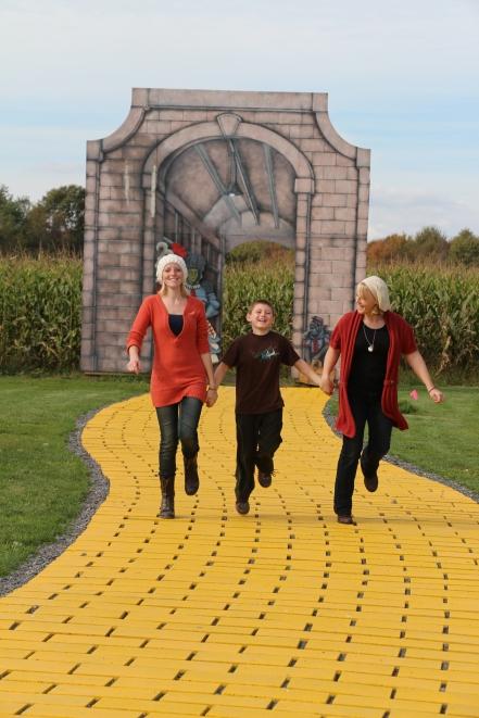 """Follow the yellow brick road!"""