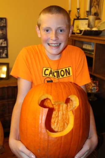 Rusty's completed pumpkin