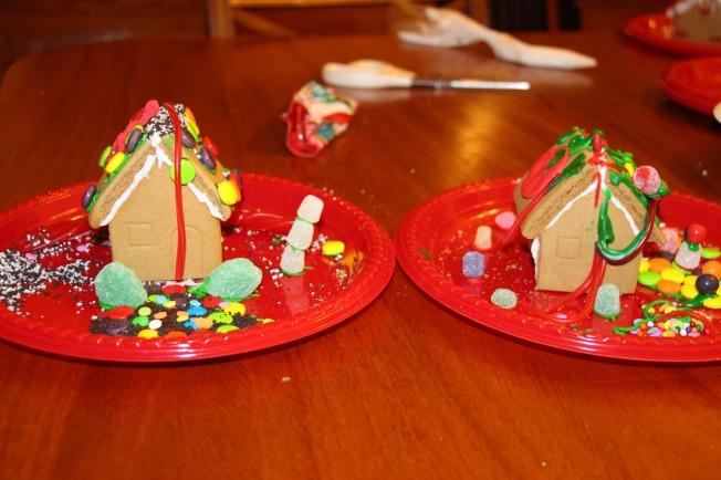 The little boys' houses.