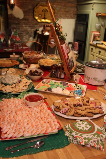 The Christmas eve spread...YUM!
