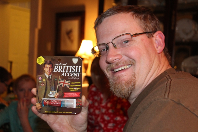 Santa always finds the perfect stocking stuffers for each person. For instance, Toby's new mouth spray...I do love a man with a British accent :)