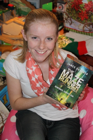 Molly's favorite gift was the Maze Runner book set.