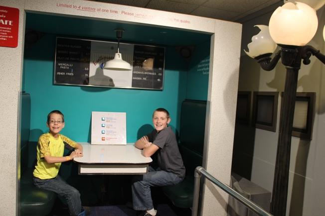 The earthquake simulator...Yikes!