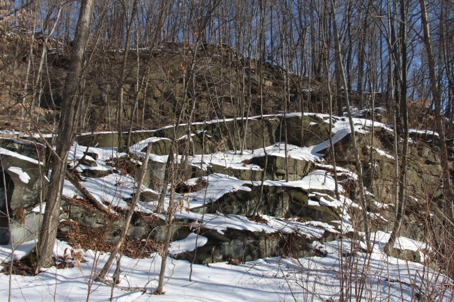 Walking the trail to Buttermilk Falls.