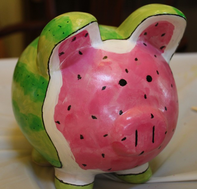 Gracie's watermelon pig