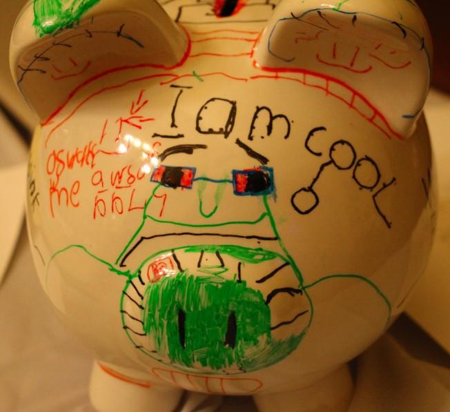 Ozzie's graffiti pig