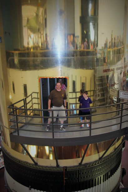 Toby and Tyler touring the spacecraft.