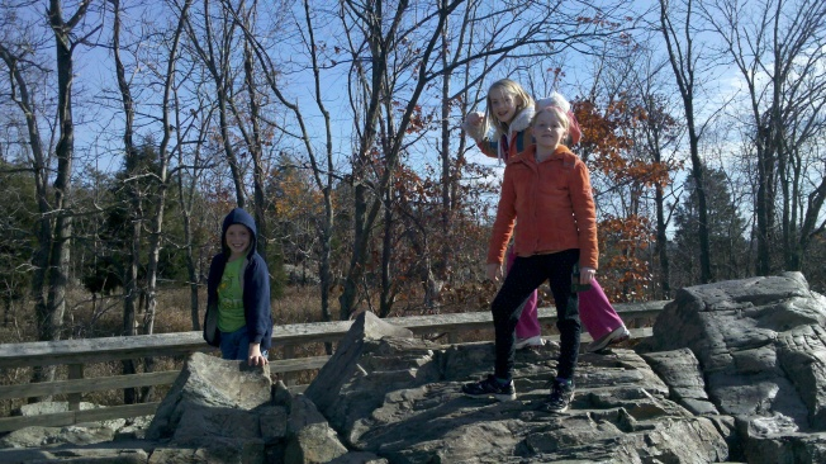 kids at falls