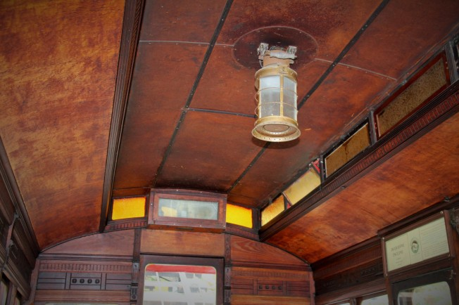 The inside of the incline cars are beautiful.