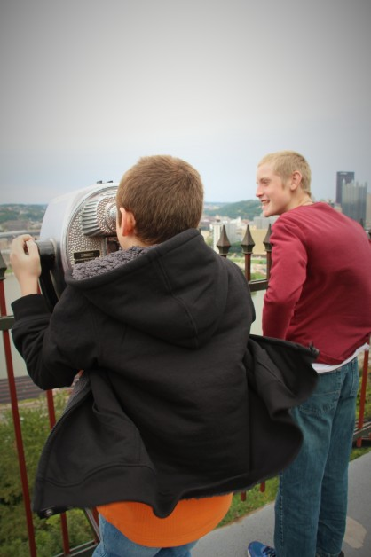 Checking out the views on the widy